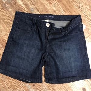 NWT Banana Republic Dark Wash Skinny Shorts.